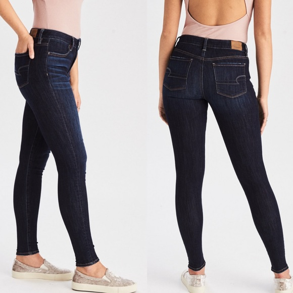 Super Stretch Skinny Jean Leggings in Black
